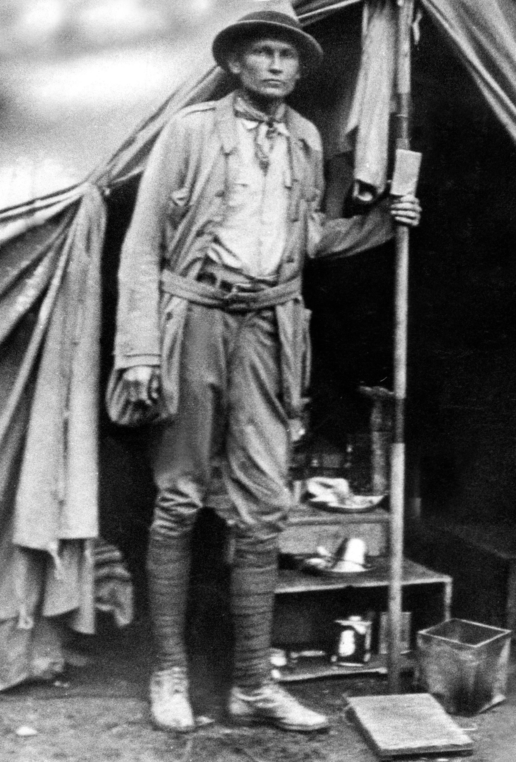 Yale graduate and American explorer Hiram Bingham (1875-1956) who discovered the Machu Picchu in Peru, July 24, 1911.