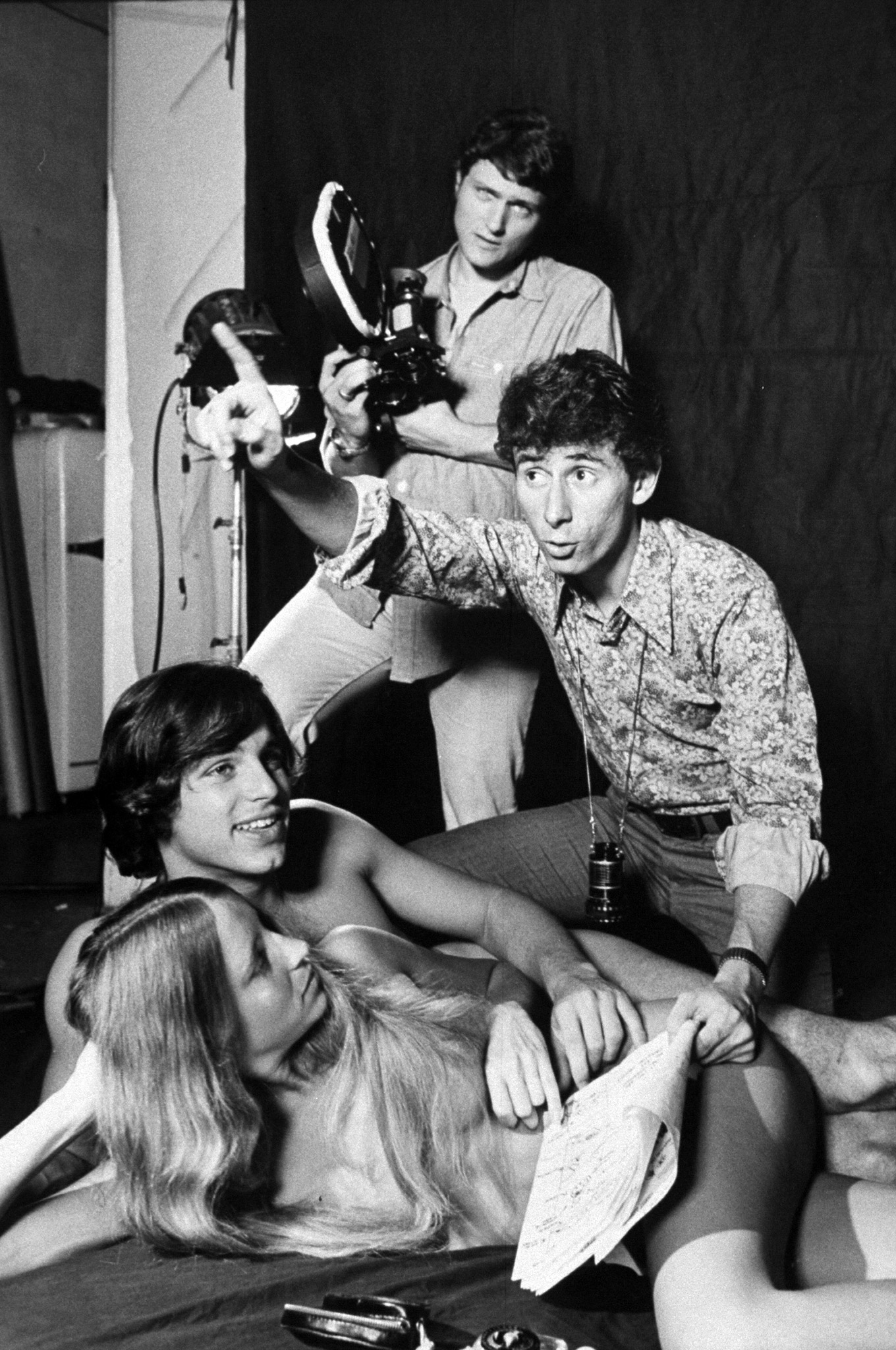 Alan Roberts directs nude couple for a scene in his film Zodiac Couples.
