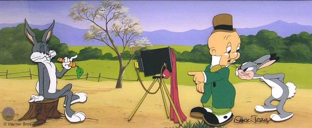 Picture the Future  a hand-painted cel art edition by Chuck Jones
