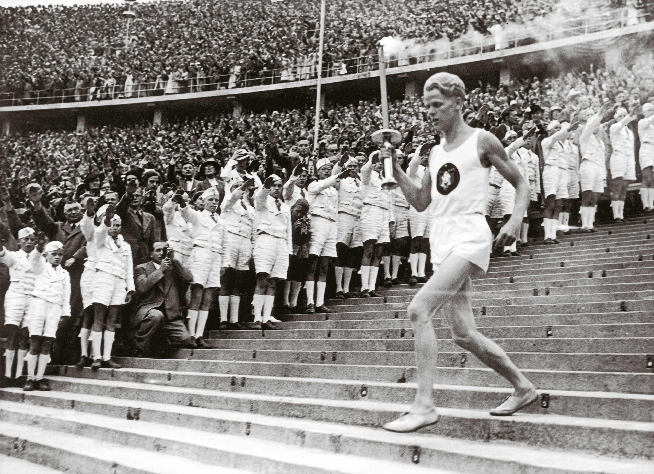 Beginning of the eleventh Olympic Games. Aug. 1,1936.