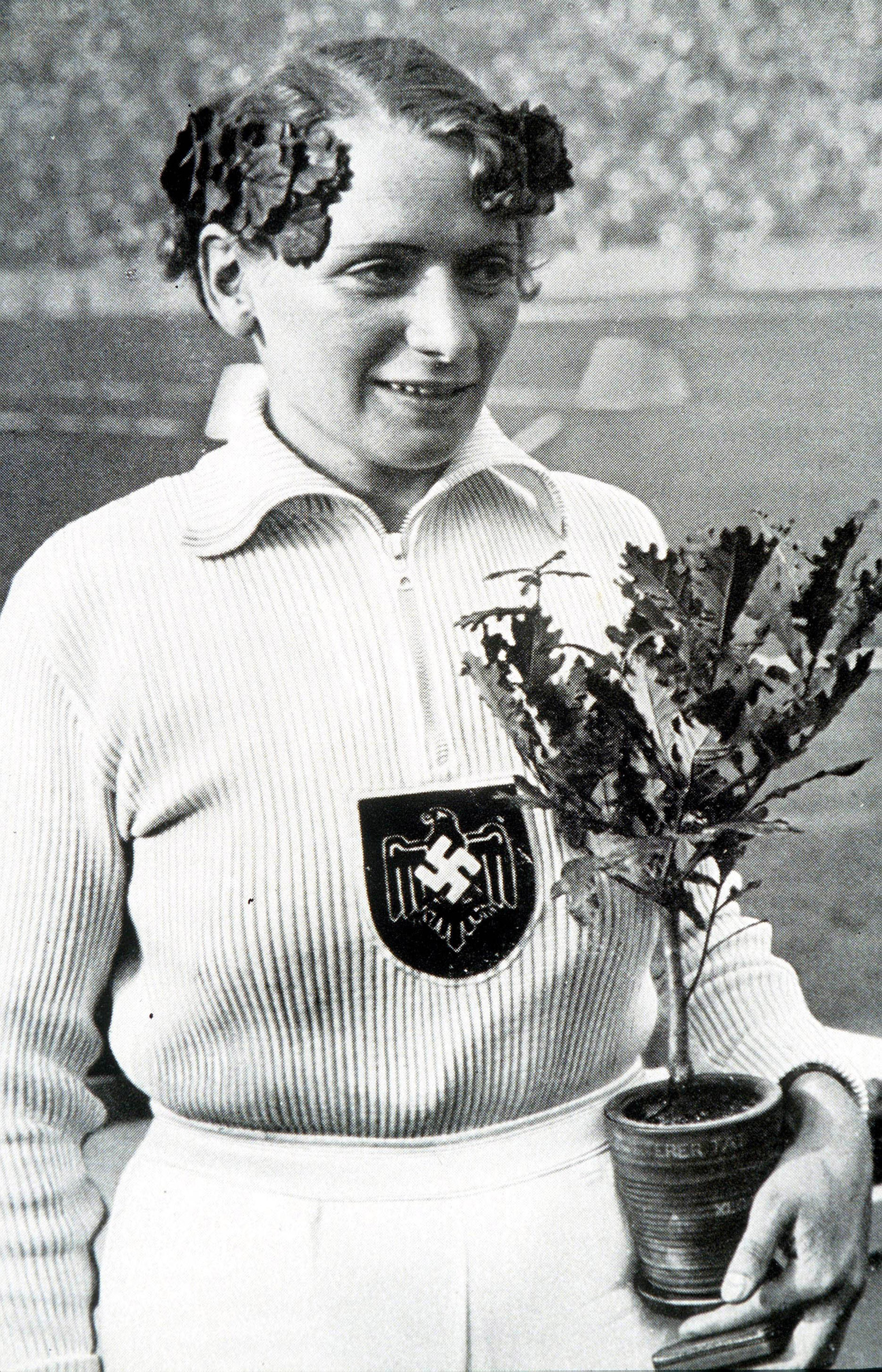 Germany's Tilly Fleischer, who won the gold medal in women's javelin, at the 1936 Olympic Games in Berlin