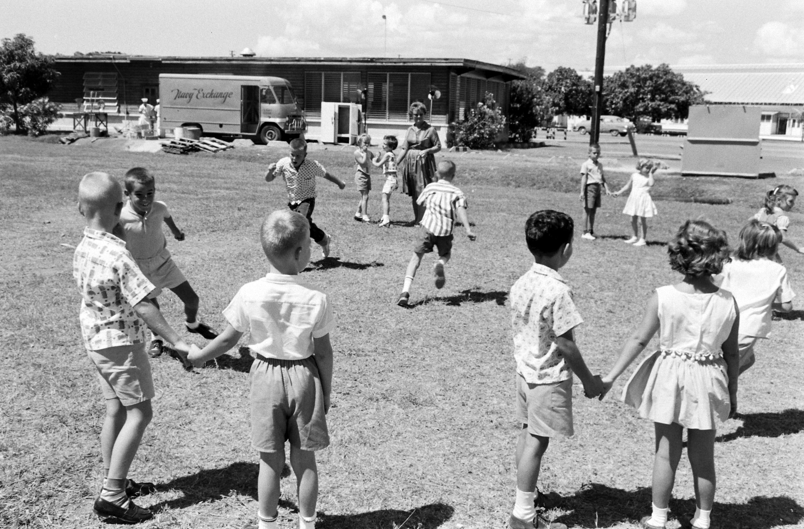 Kids in Guantanamo Base school, Guantanamo Bay, Cuba, 1962.