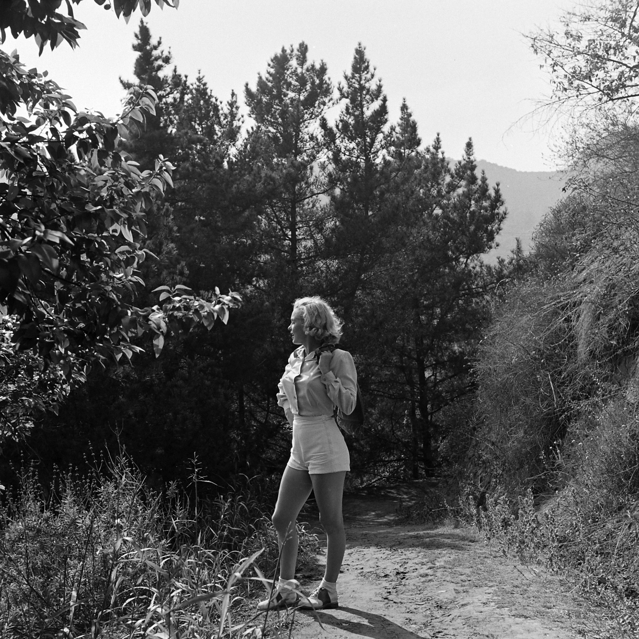 Marilyn Monroe in Griffith Park, Los Angeles, California, 1950.