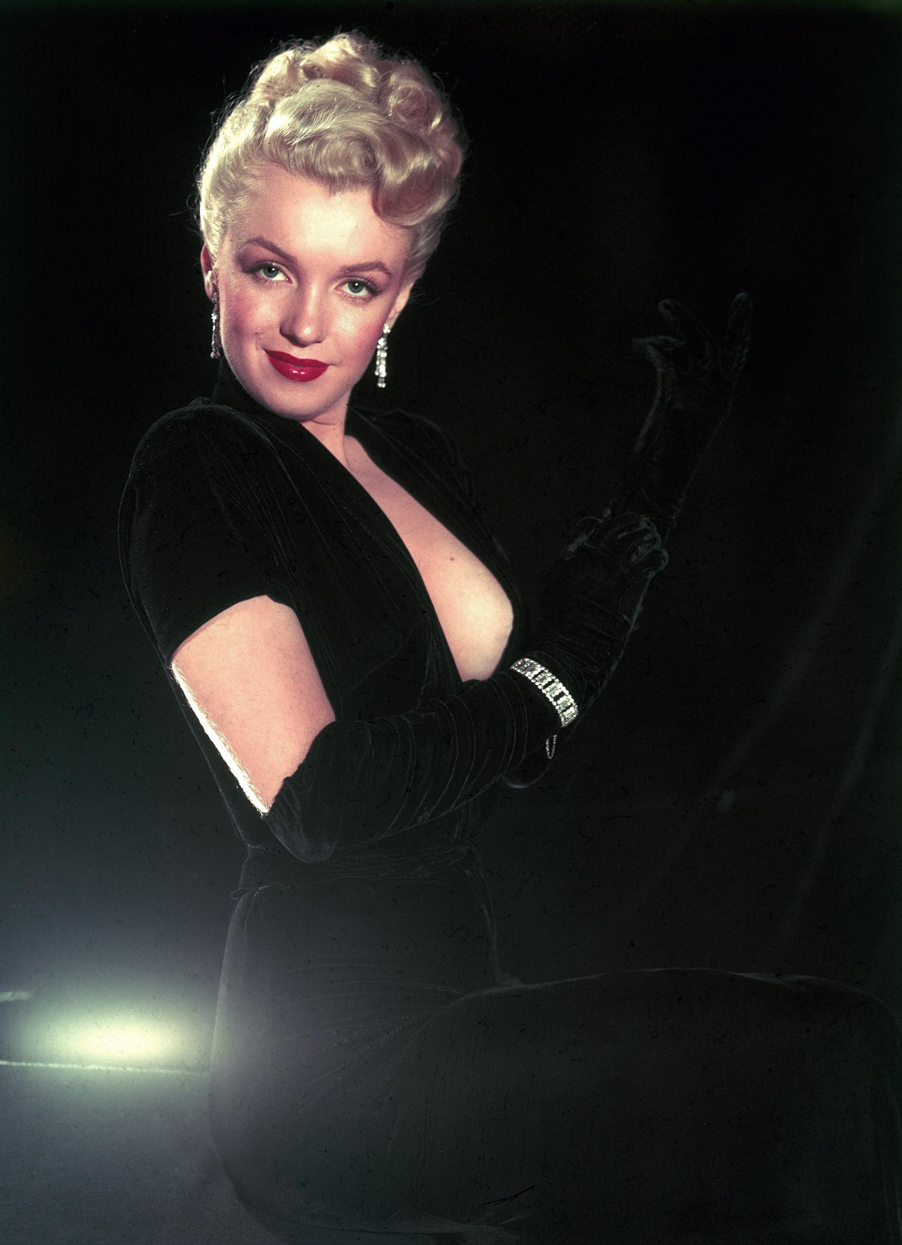 Marilyn Monroe strikes a pose, 1950.