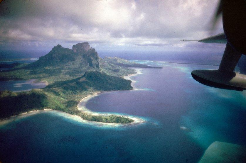 Bora Bora as the airborne author saw it.