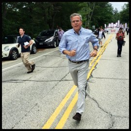 Jeb Bush Campaigns in New Hampshire