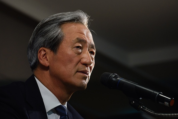 Former FIFA vice president Chung Mong-joon speaks during a press conference in Seoul on June 3, 2015