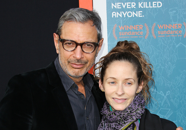 Jeff Goldblum and his wife Emilie Livingston attend the Me And Earl and the Dying Girl premiere at the Harmony Gold Theatre in Los Angeles on June 3, 2015