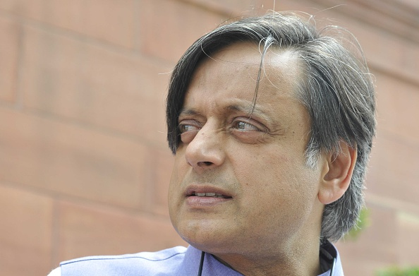 MP Shashi Tharoor attends the monsoon session at Parliament House in New Delhi on July 22, 2015
