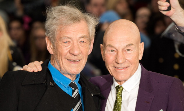 Patrick Stewart and Sir Ian McKellen attend the U.K. premiere of X-Men: Days of Future Past at Odeon Leicester Square in London on May 12, 2014