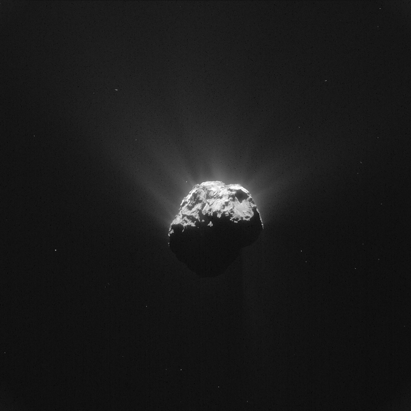 The Comet 67P/Churyumov-Gerasimenko is seen in an image taken by the Rosetta space probe on June 13, 2015.