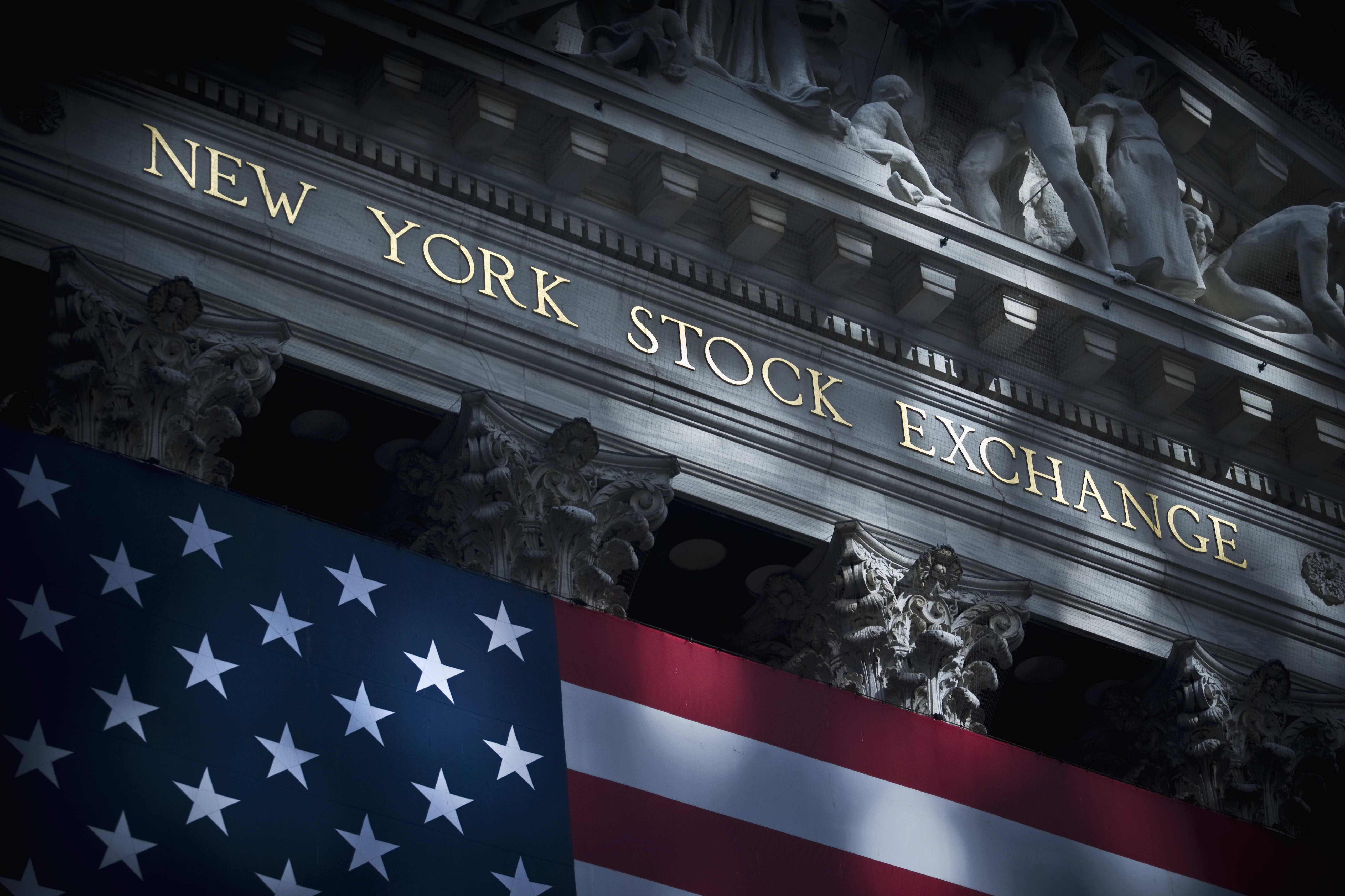 Wall Street in Manhattan, New York.