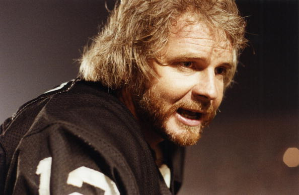 Ken Stabler #12 of the Oakland Raiders looks on during a circa 1970s game at Oakland-Alameda County Coliseum in Oakland, California