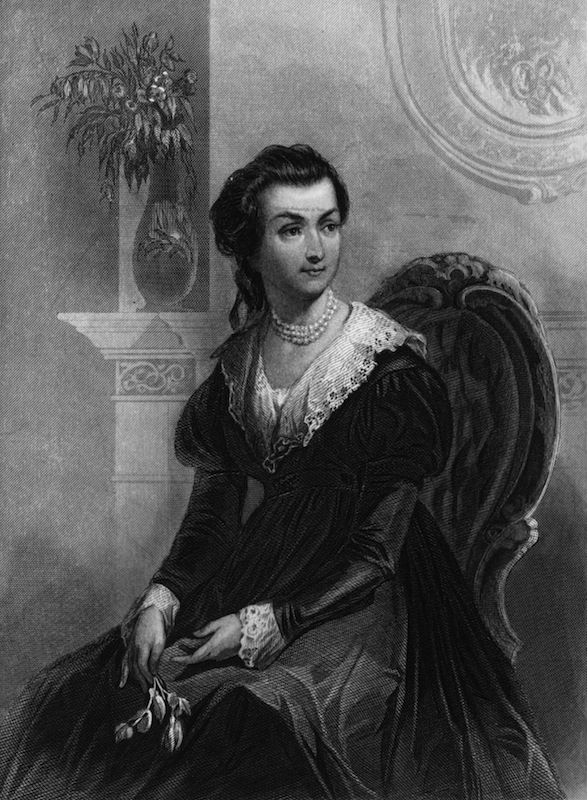 circa 1775:  Abigail Smith Adams (1744 - 1818), from a painting by C Schessele