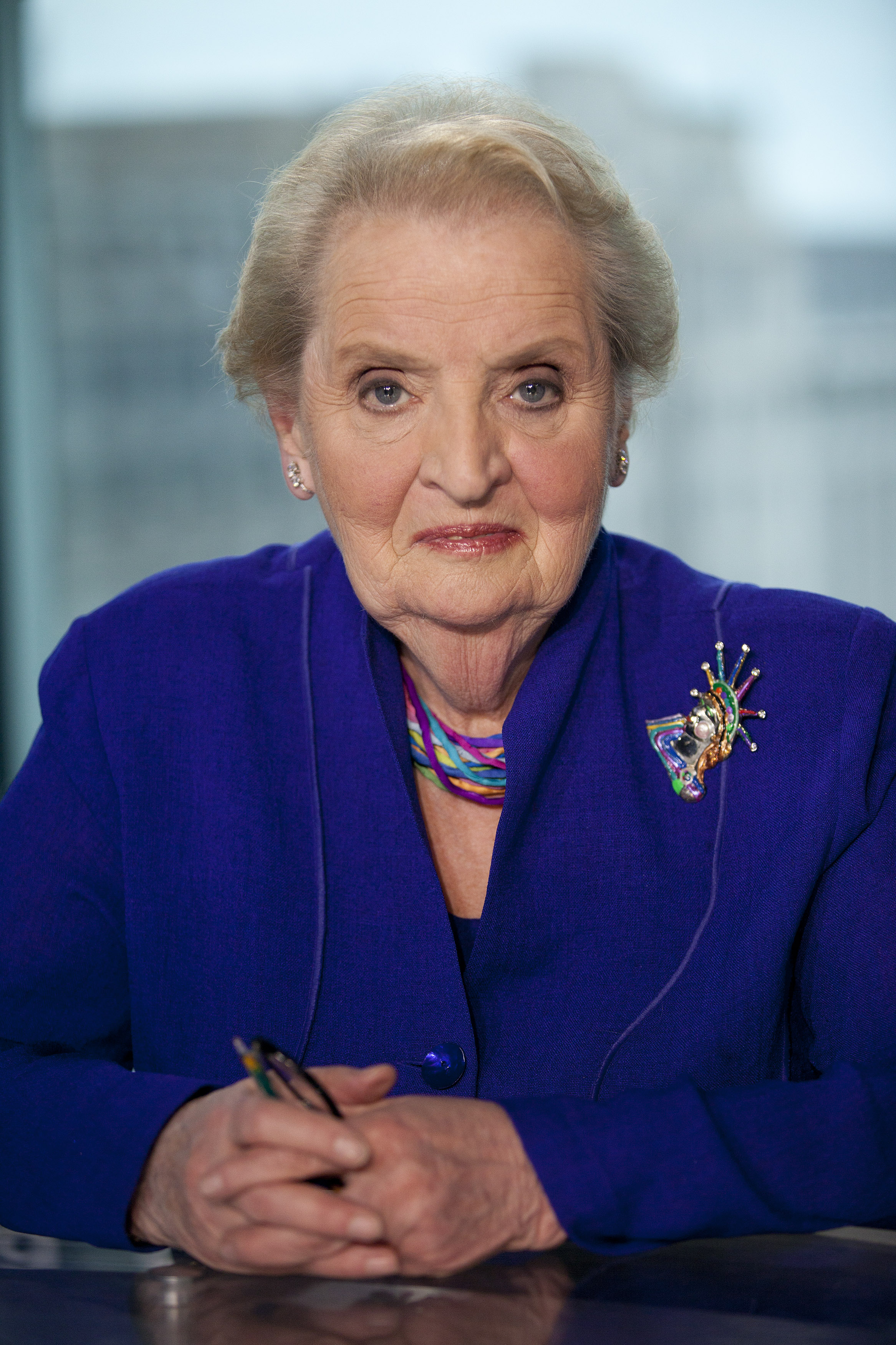 Madeleine Albright, former Secretary of State and founder of the Albright Stonebridge Group LLC, sits for a photograph in Washington, D.C., on May 22, 2012.