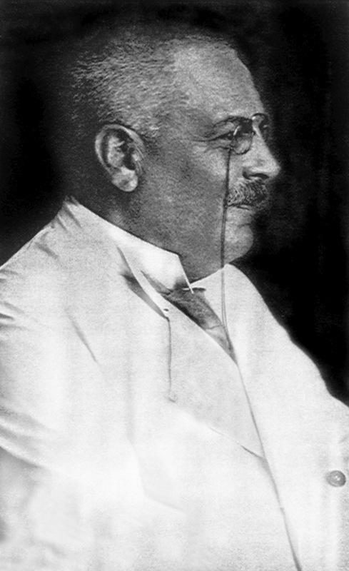 An undated portrait of Alois Alzheimer, German psychiatrist and neurologist