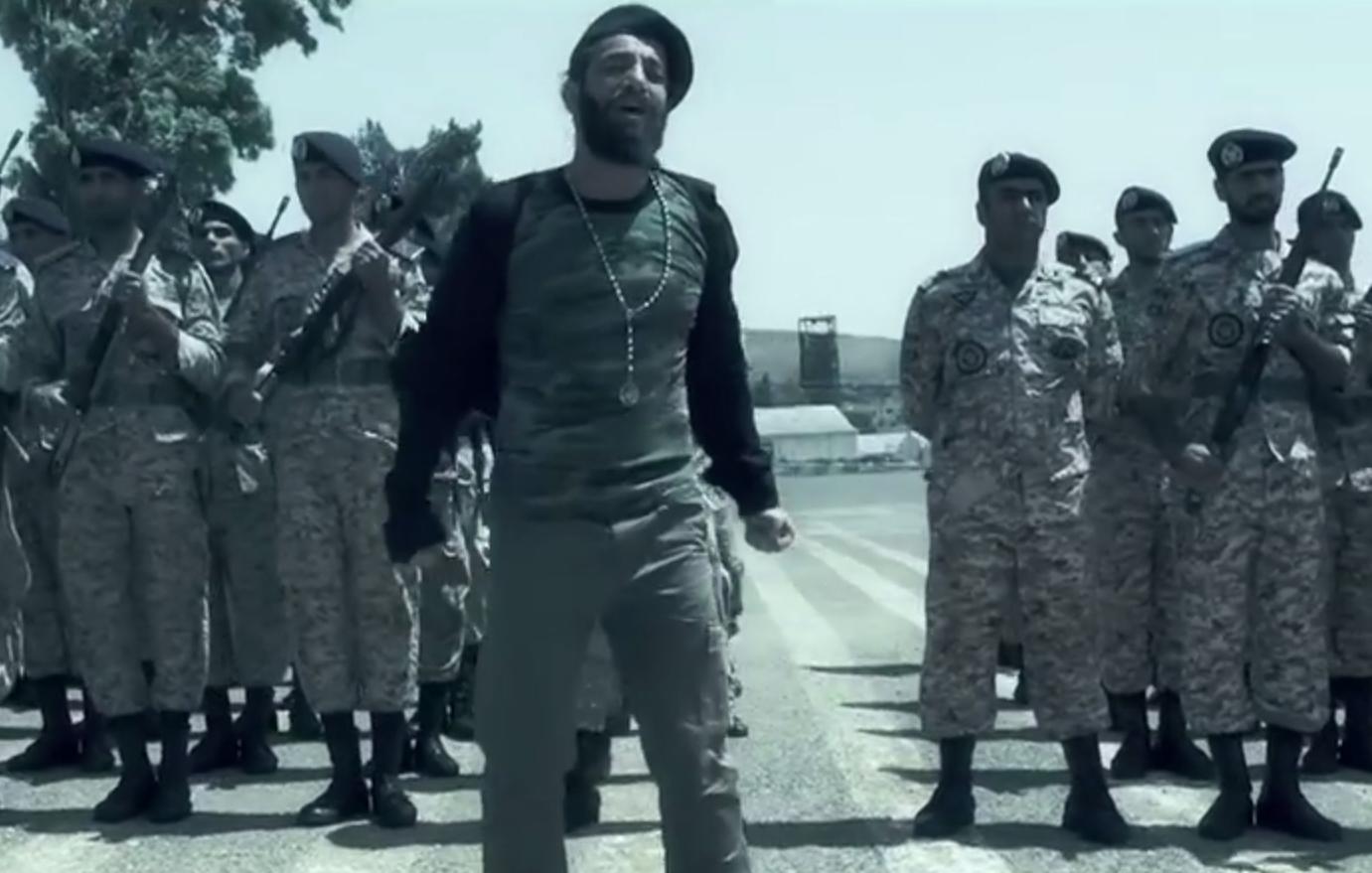 Screengrab from Amir Tataloo's music video.