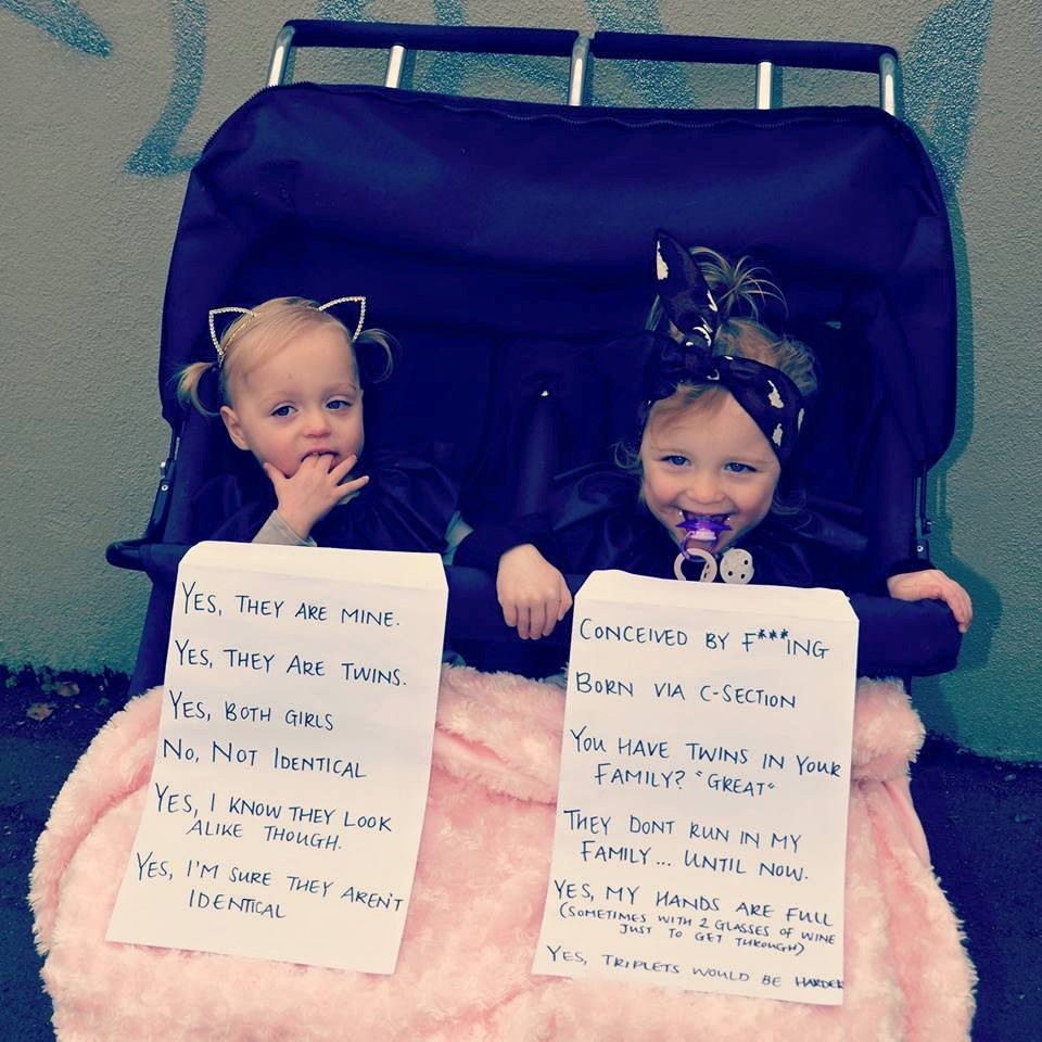 Annie Nolan's twin daughters in the photo that went viral