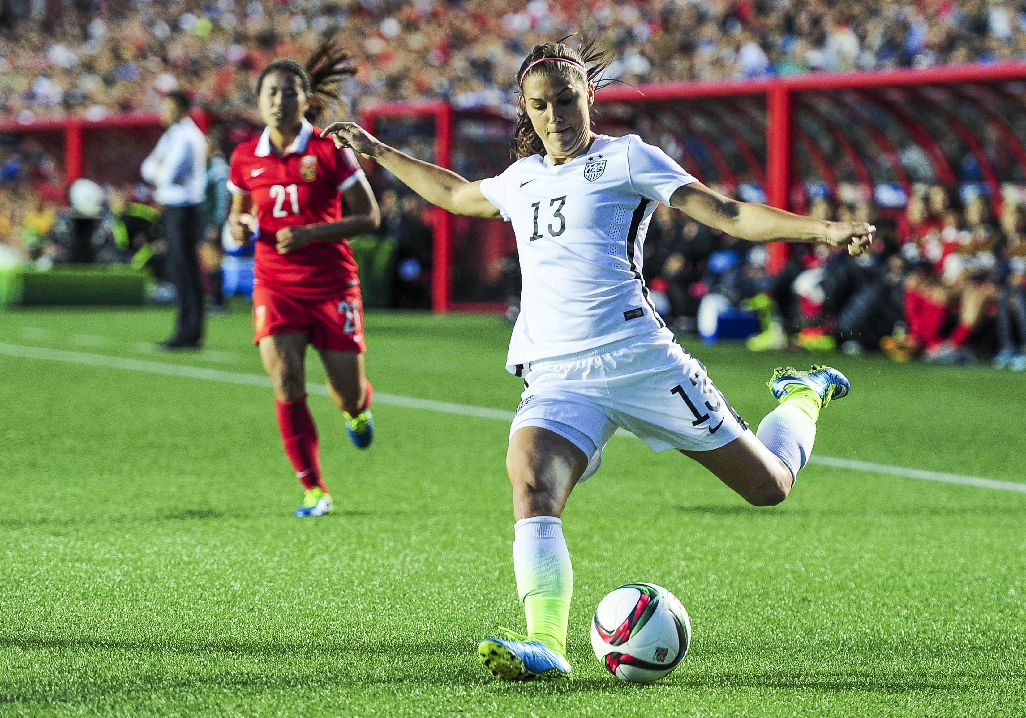 Alex Morgan of the U.S. Women's National Soccer team.