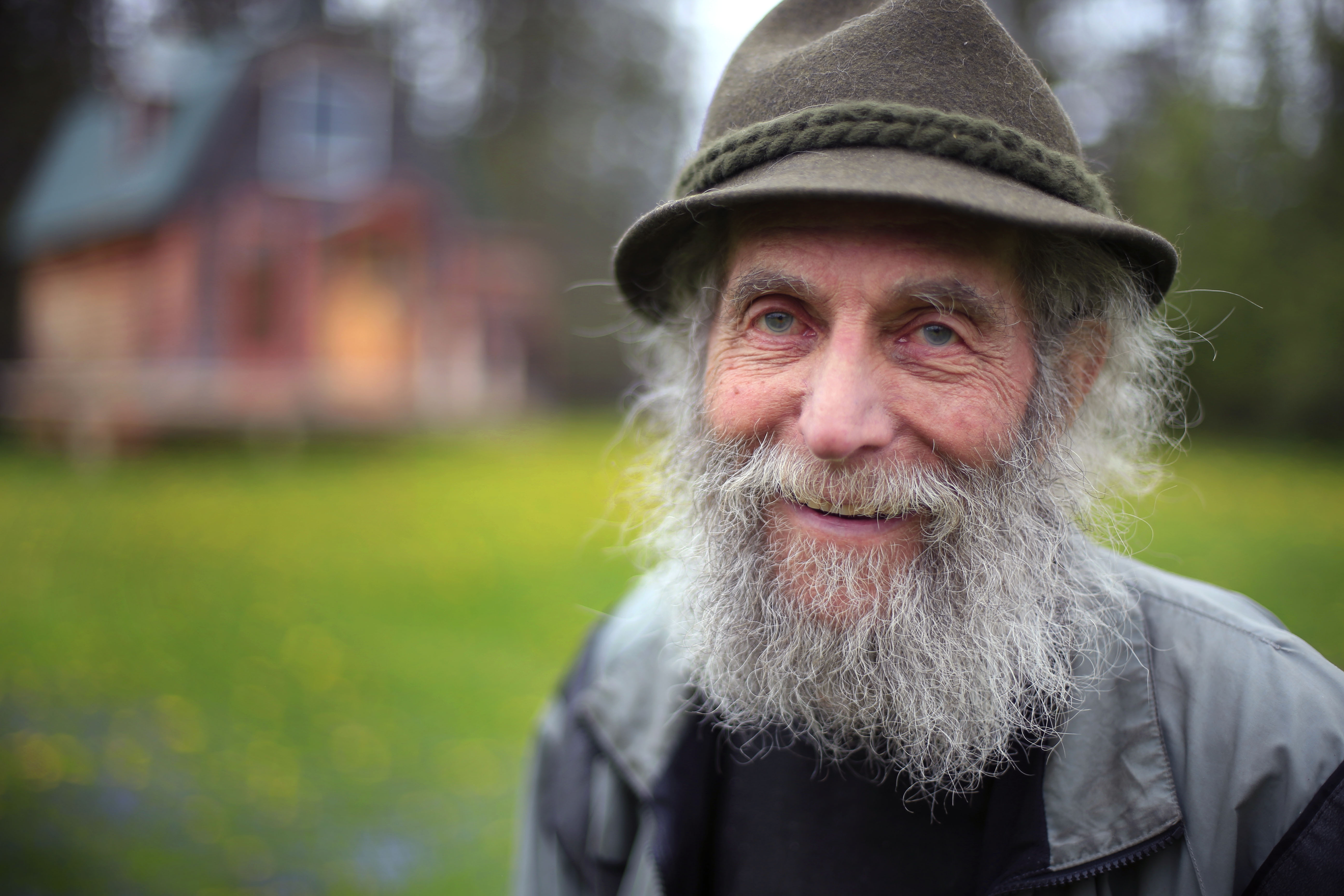 Burt Shavitz poses for a photo on his property in Parkman, Maine. Shavitz, a former beekeeper, is the Burt behind Burt's Bees