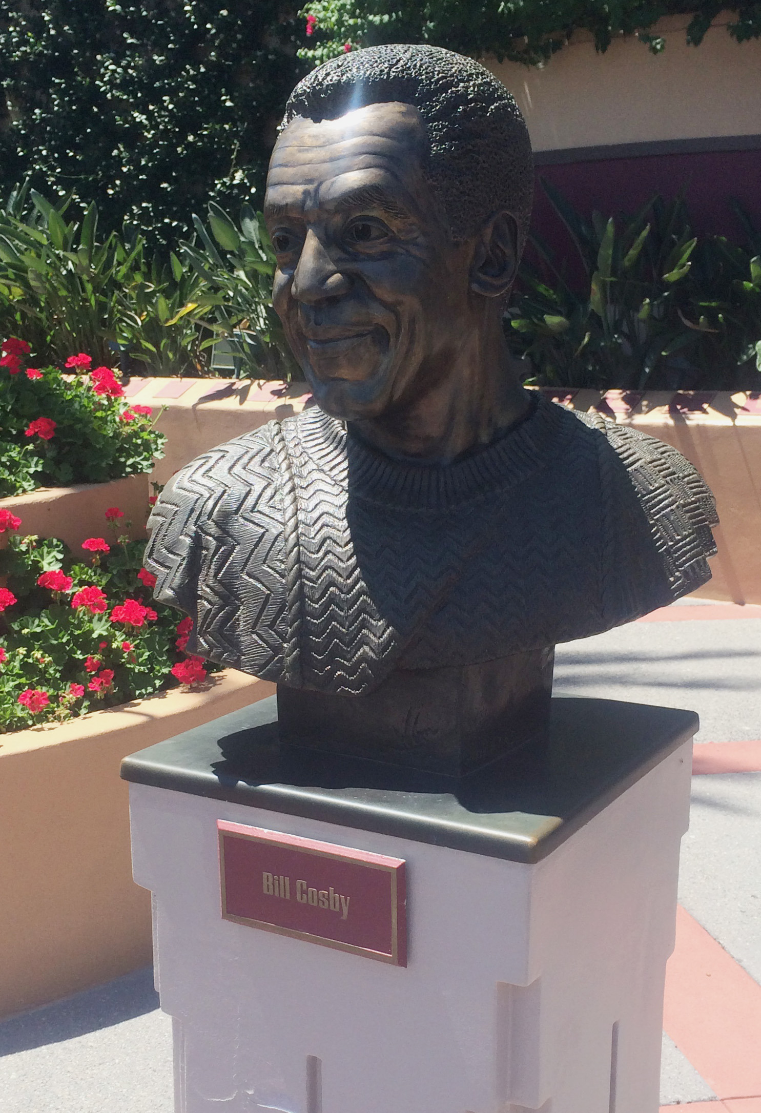 A bust of actor and comedian Bill Cosby at Hollywood Studios theme park in Orlando, Fla.