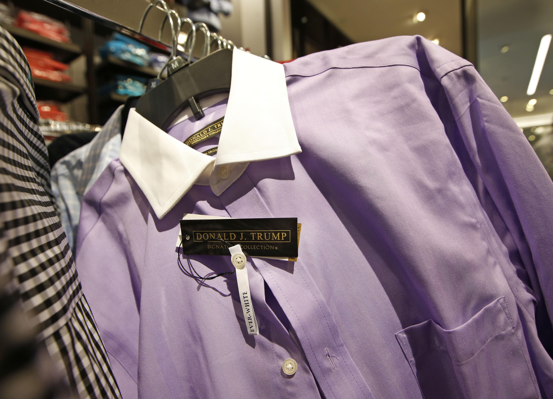 A Donald Trump Signature Collection dress shirt.