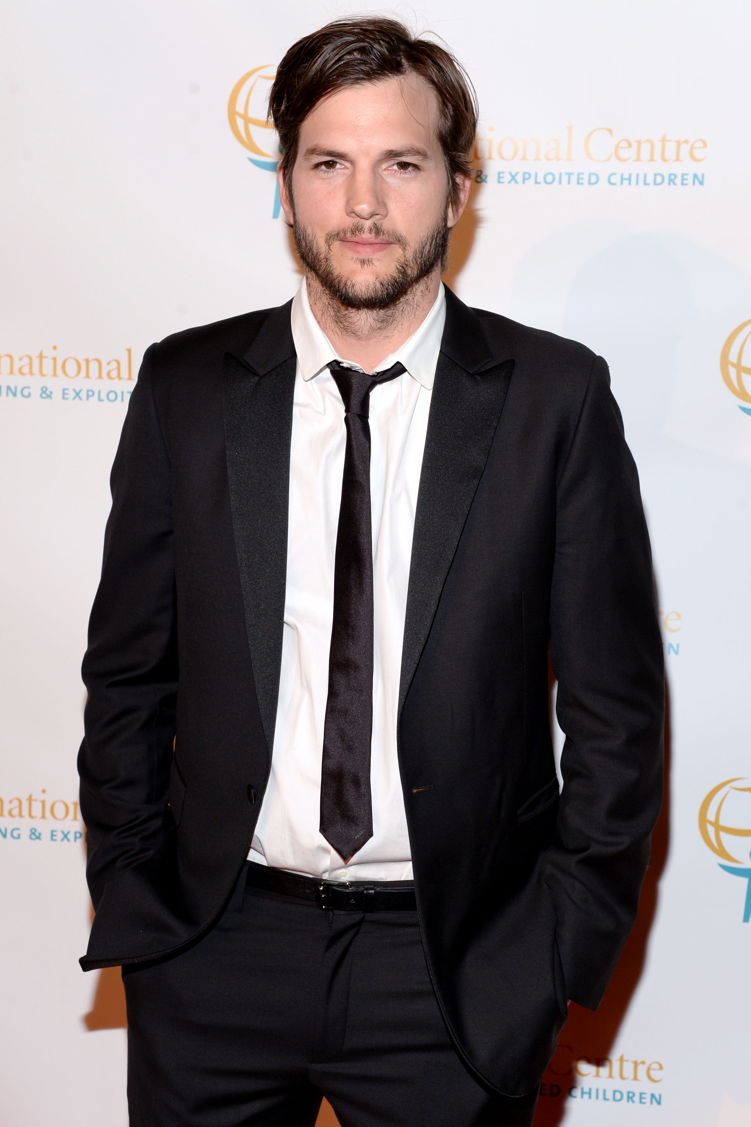 Ashton Kutcher at International Centre for Missing & Exploited Children's Inaugural Gala for Child Protection in New York City on May 7, 2015.