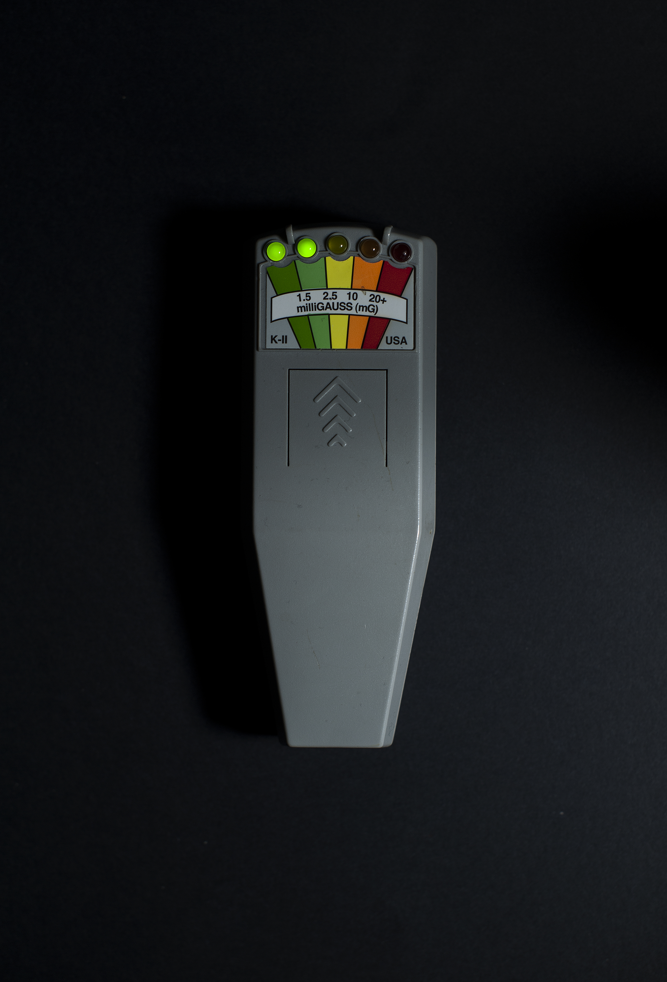 The K2 meter is a popular, easy-to-use tool to detect spikes in electromagnetic energy. These spikes are indicated by the multicolor lights at the top of the meter, which may signify activity or communication from spirits from the other side. It's widely used by professional ghost hunters.