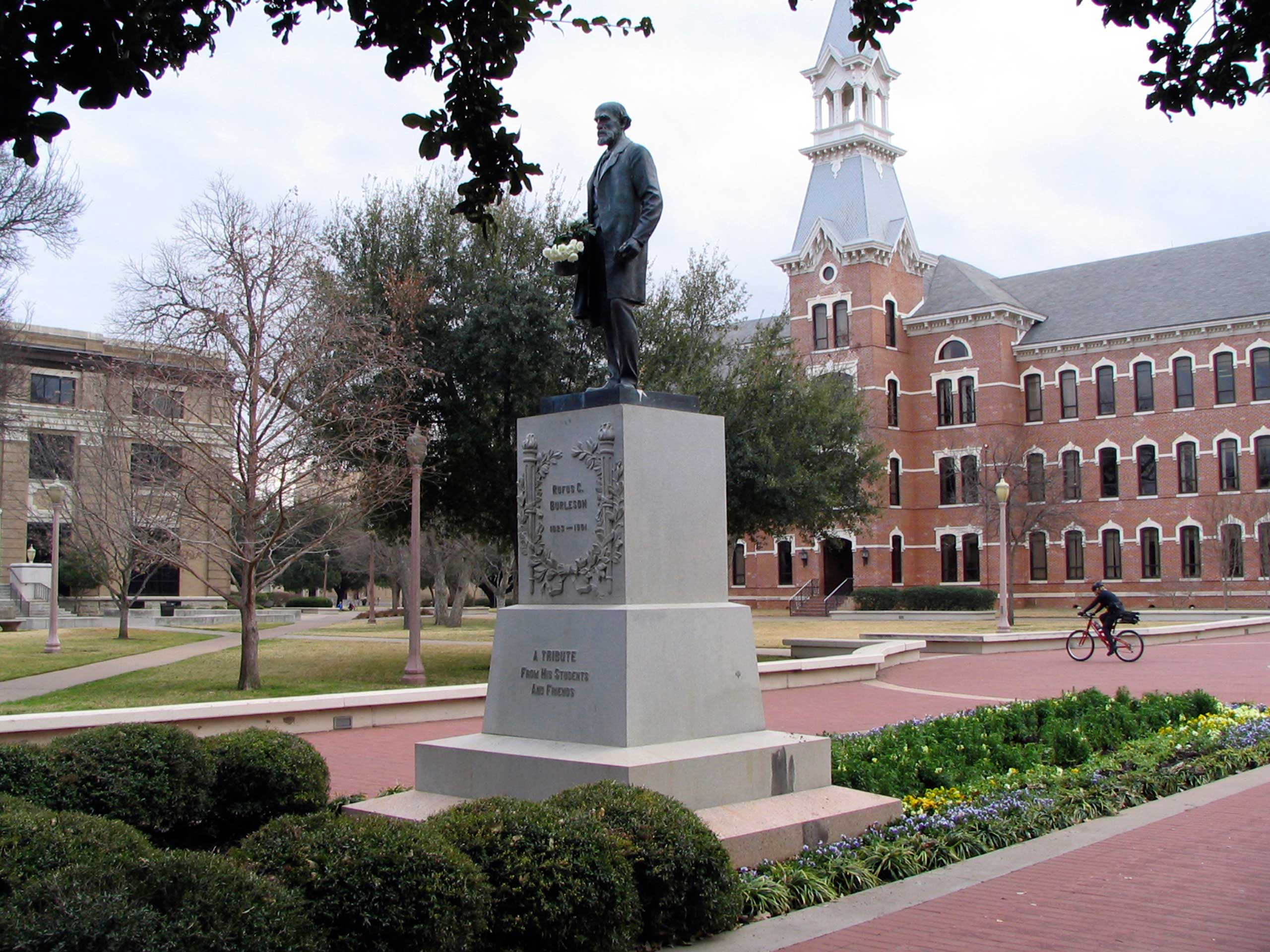 The campus of Baylor University is at the heart of Waco, Texas.