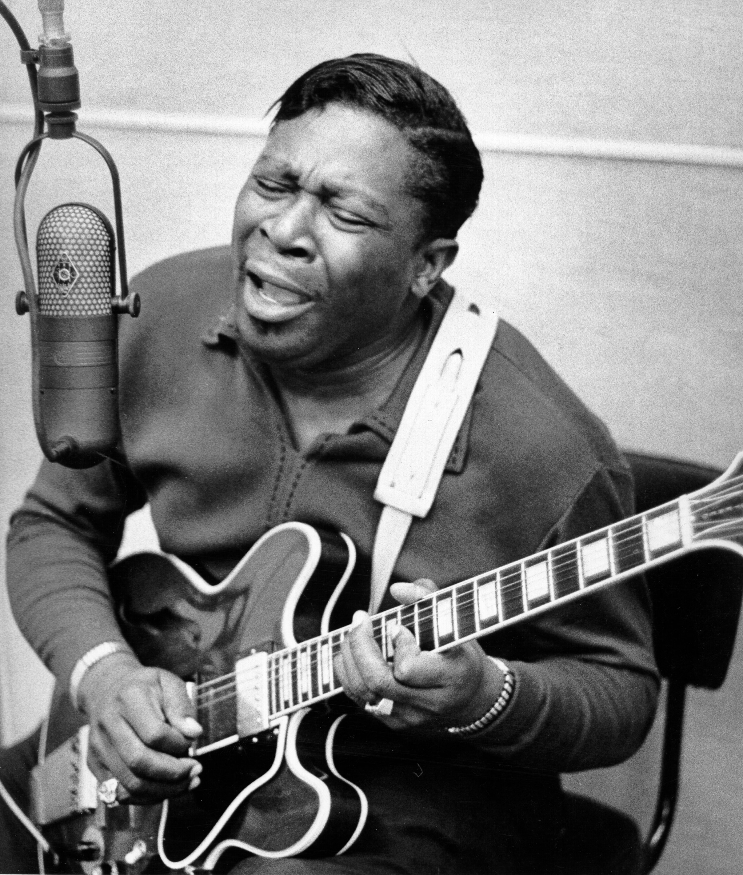 B.B. King He doesn't call his guitar Lucille to be cute. With King's emphasis on vibrato, she sounds like a real woman singing the blues.