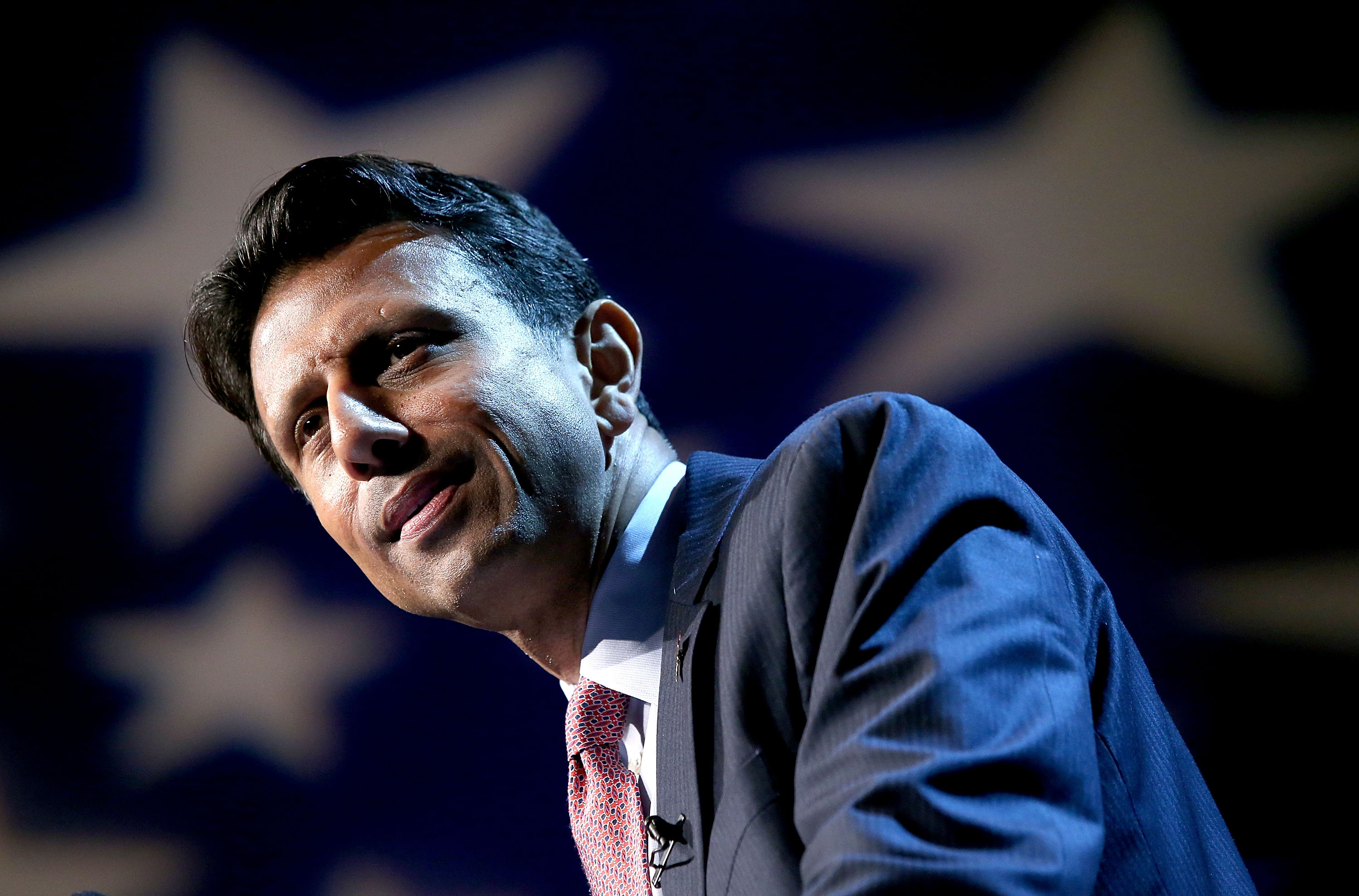 Louisiana Governor Bobby Jindal announces his candidacy for the 2016 Presidential nomination during a rally a he Pontchartrain Center in Kenner, Louisiana on June 24, 2015.