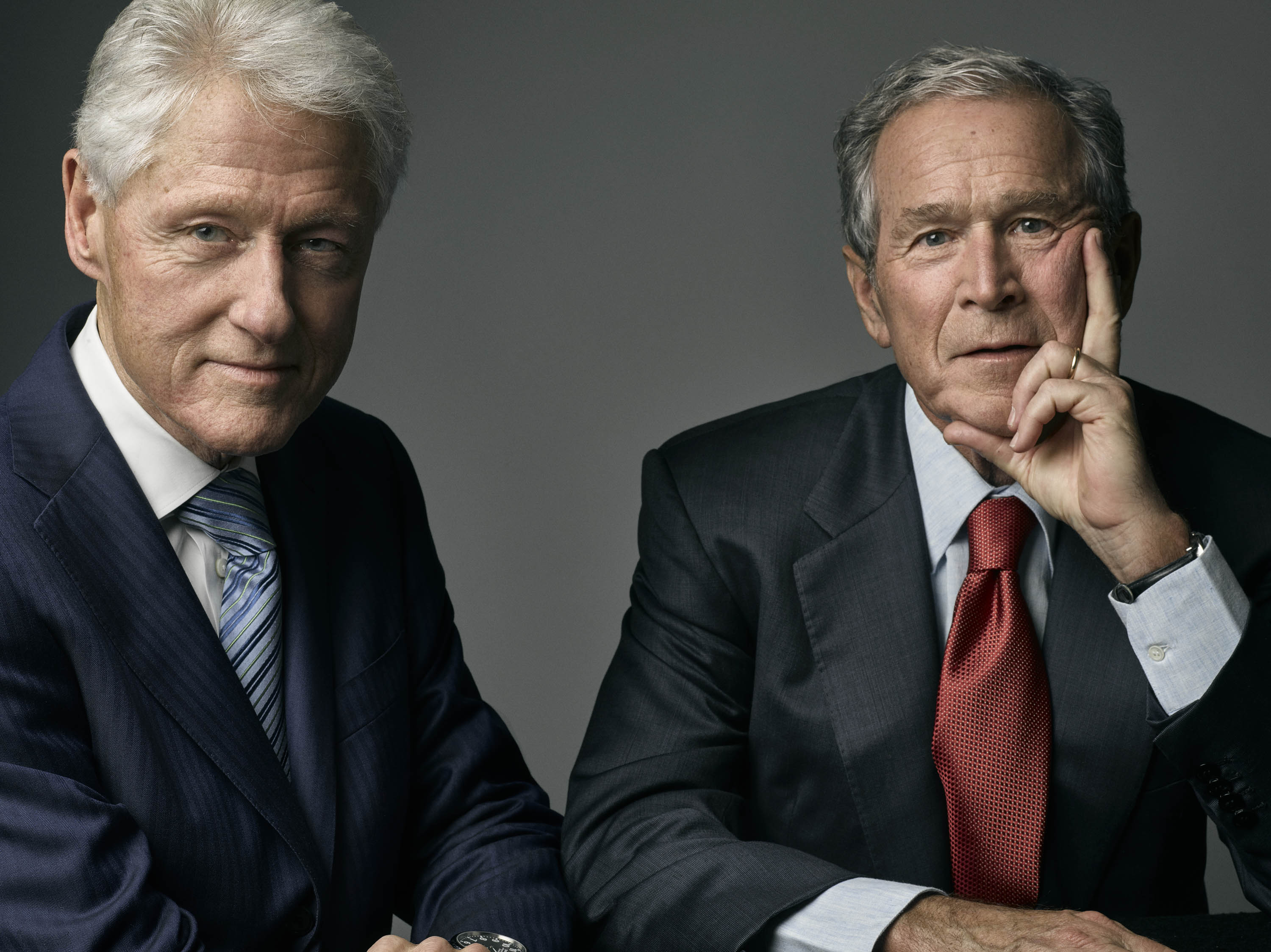 Bill Clinton and George W. Bush sat down with TIME at the Bush Center in Dallas, where they celebrated the first class of Presidential Leadership Scholars.
