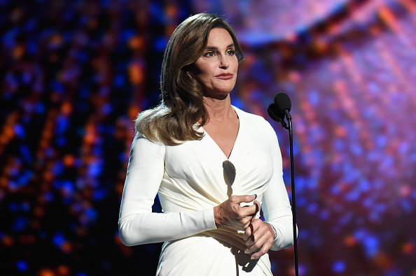 Caitlyn Jenner accepts the Arthur Ashe Courage Award during The 2015 ESPYS in Los Angeles on July 15, 2015.