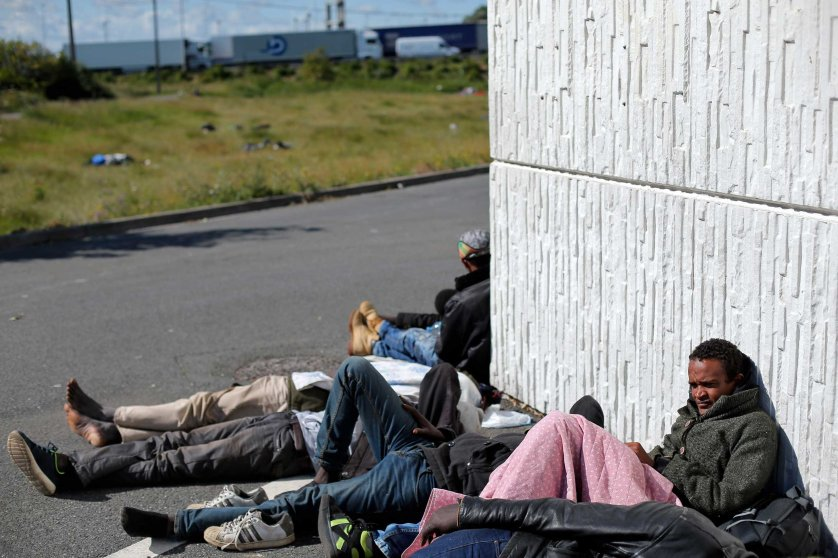 Calais Channel Tunnel migrants