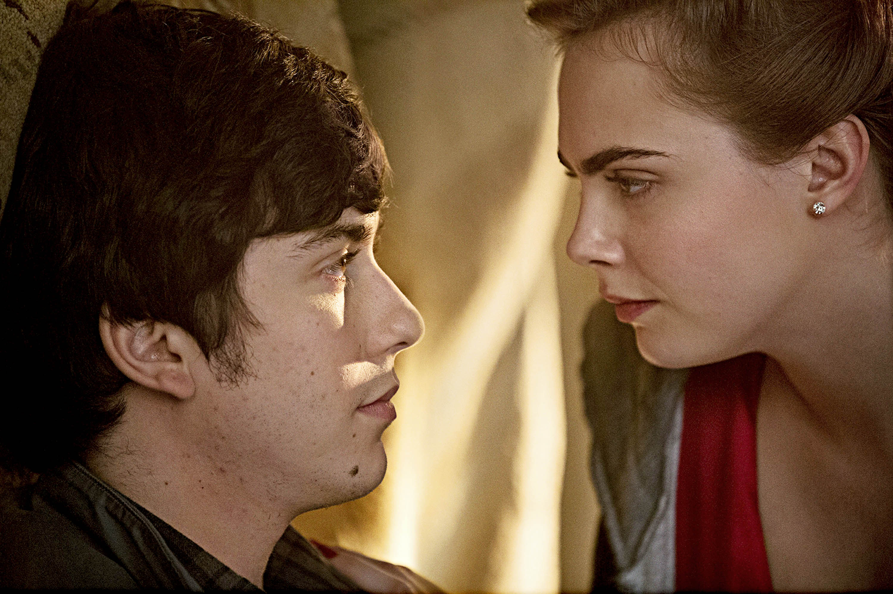 As Margo, style icon Cara Delevingne takes her next-door neighbor Quentin, played by Nat Wolff, on the ride of his life