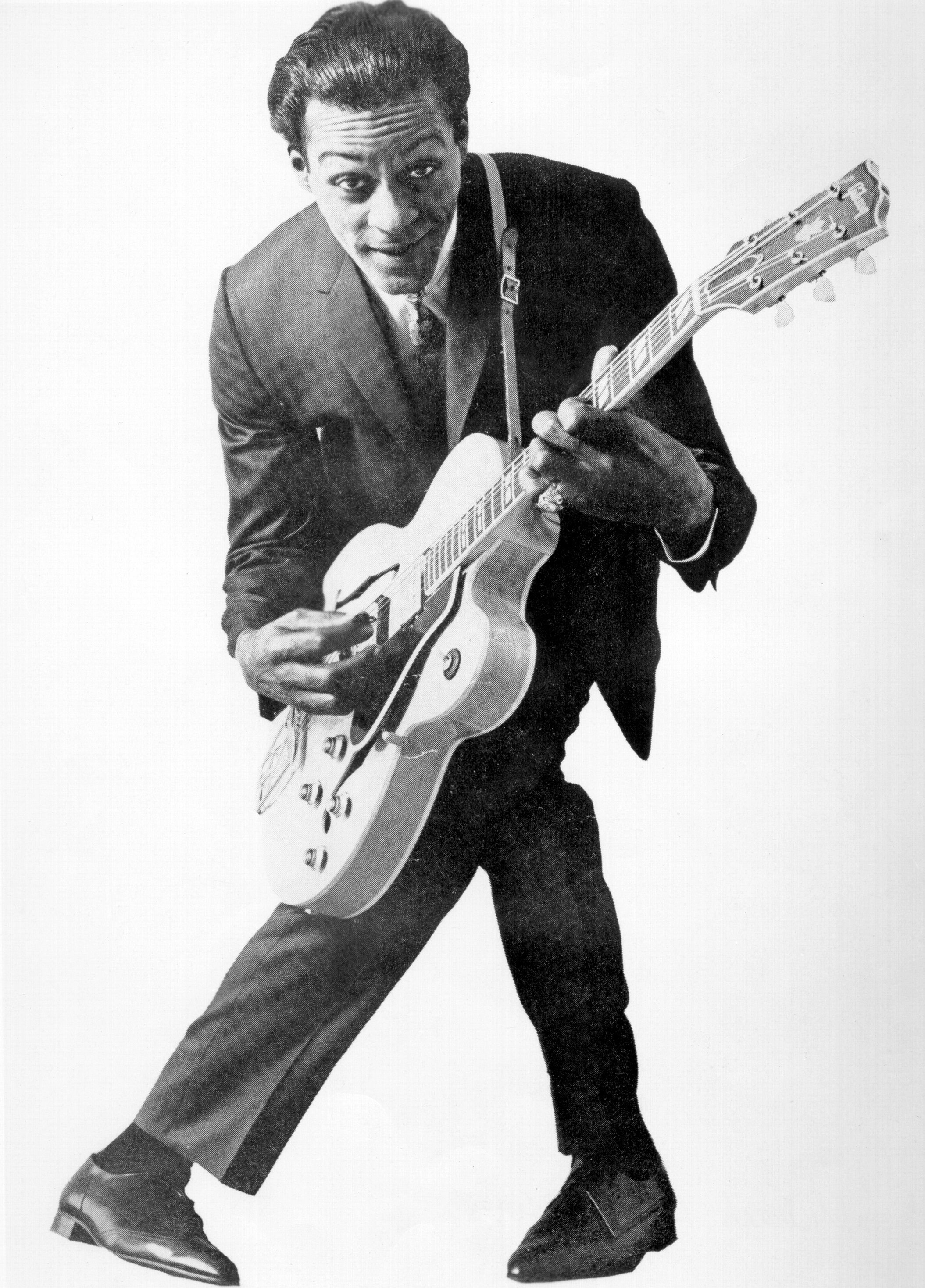 Chuck Berry The father of rock-'n'-roll guitar, his staccato influence is still heard on most songs today.