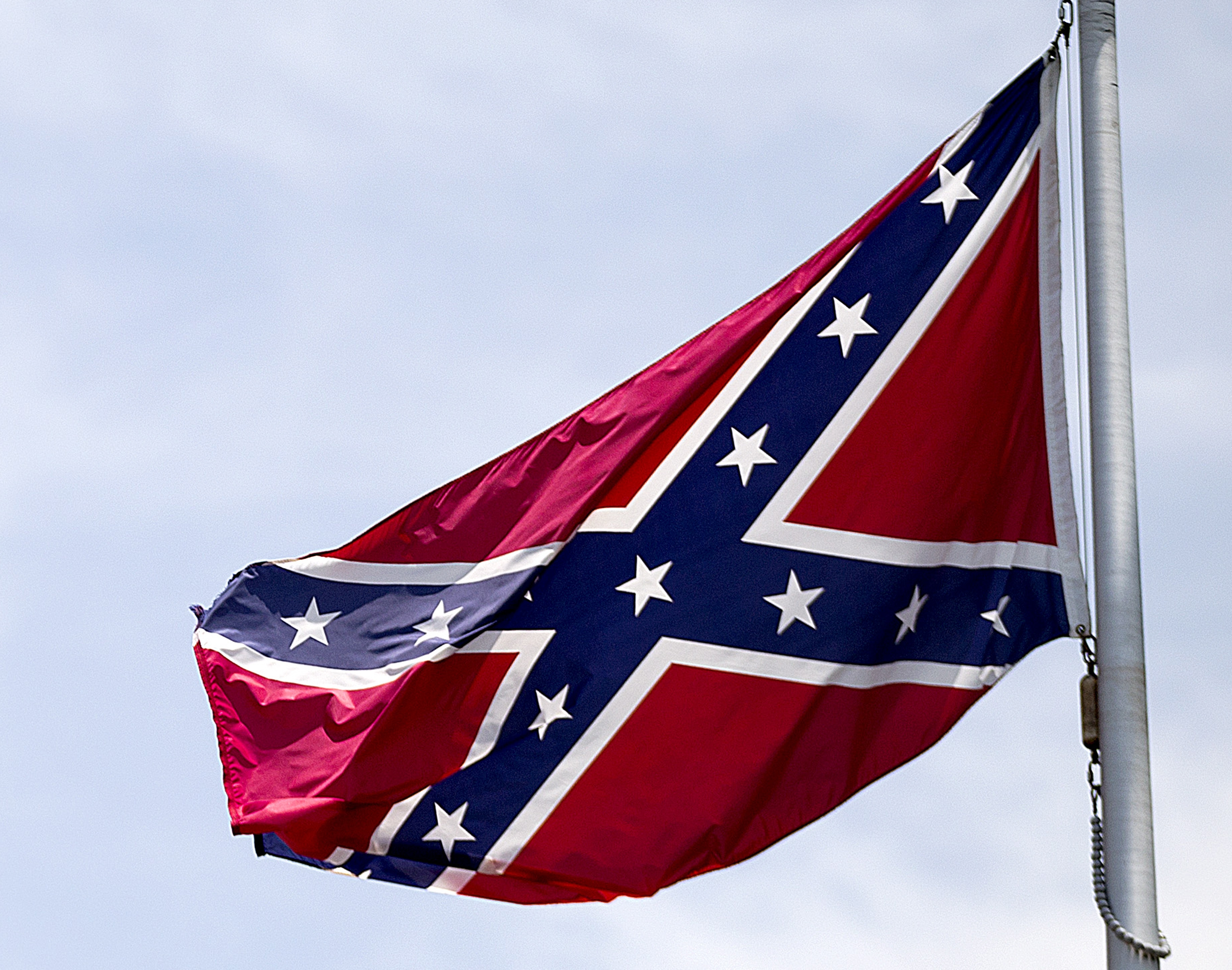 A Confederate flag flies at the base of Stone Mountain, Ga., on June 30, 2015.
