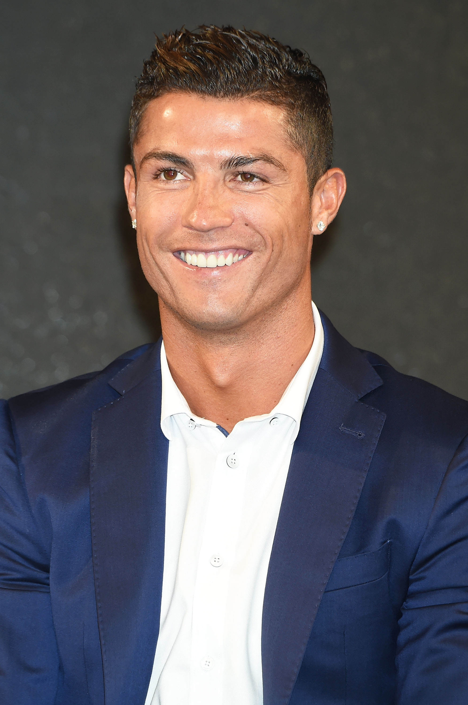Cristiano Ronaldo during a press conference on July 7, 2015 in Tokyo, Japan.