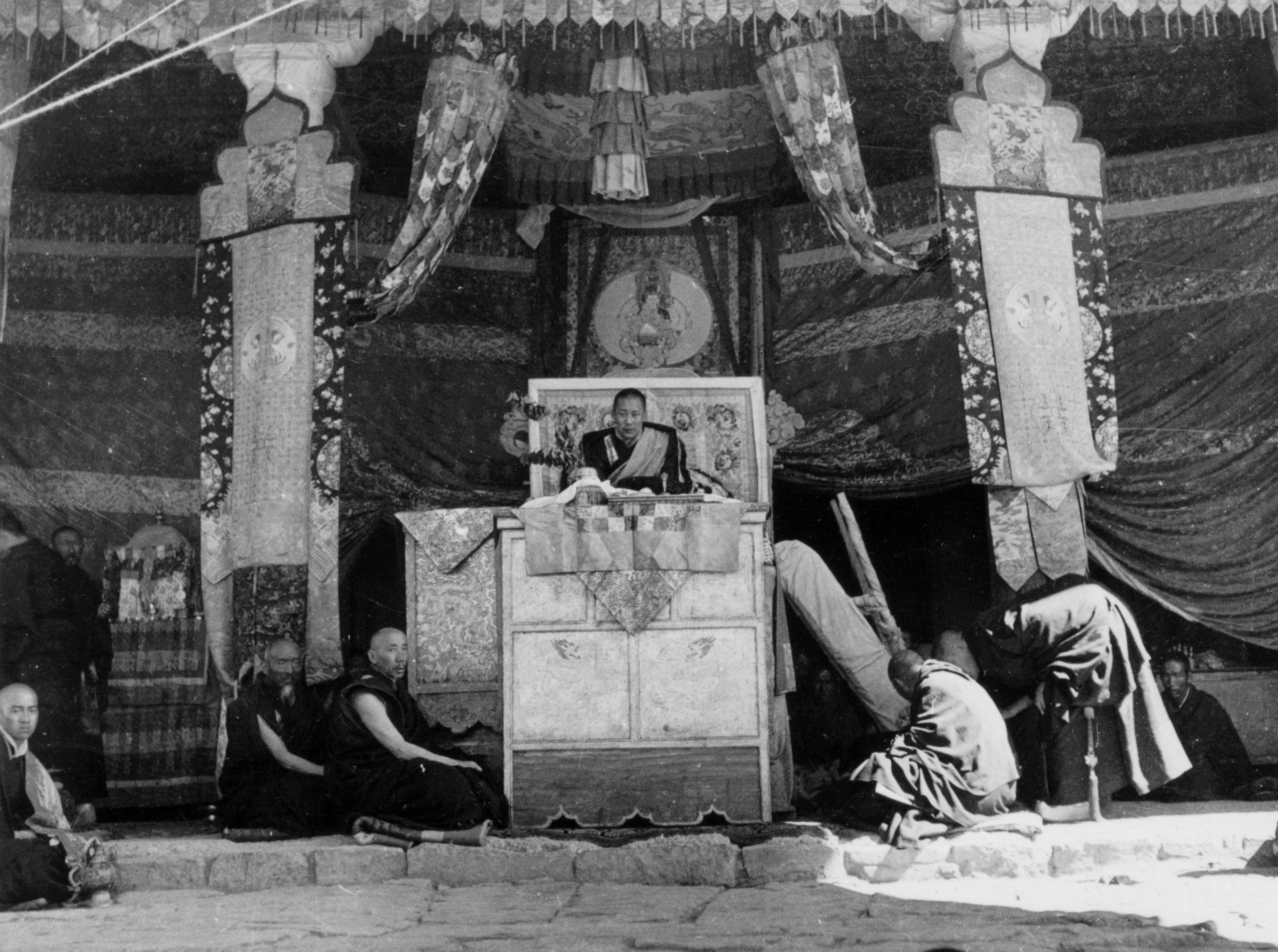 The Dalai Lama performs his first ever Avalokiteshwara Kalachakra initiation at age 19 in 1954.