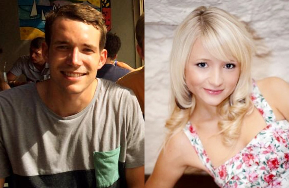 David Miller, 24, from Jersey, left, and Hannah Witheridge, 23, from Great Yarmouth