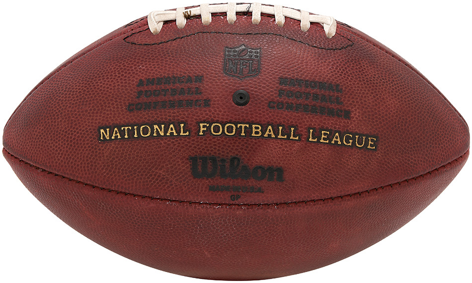 Lelands.com auctioned a football used in the AFC Championship Game.