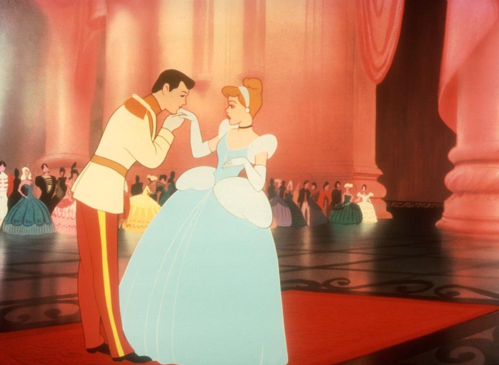 Prince Charming and Cinderella in Disney's  CINDERELLA.