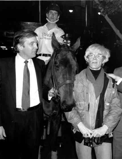 donald trump posing with celebrities