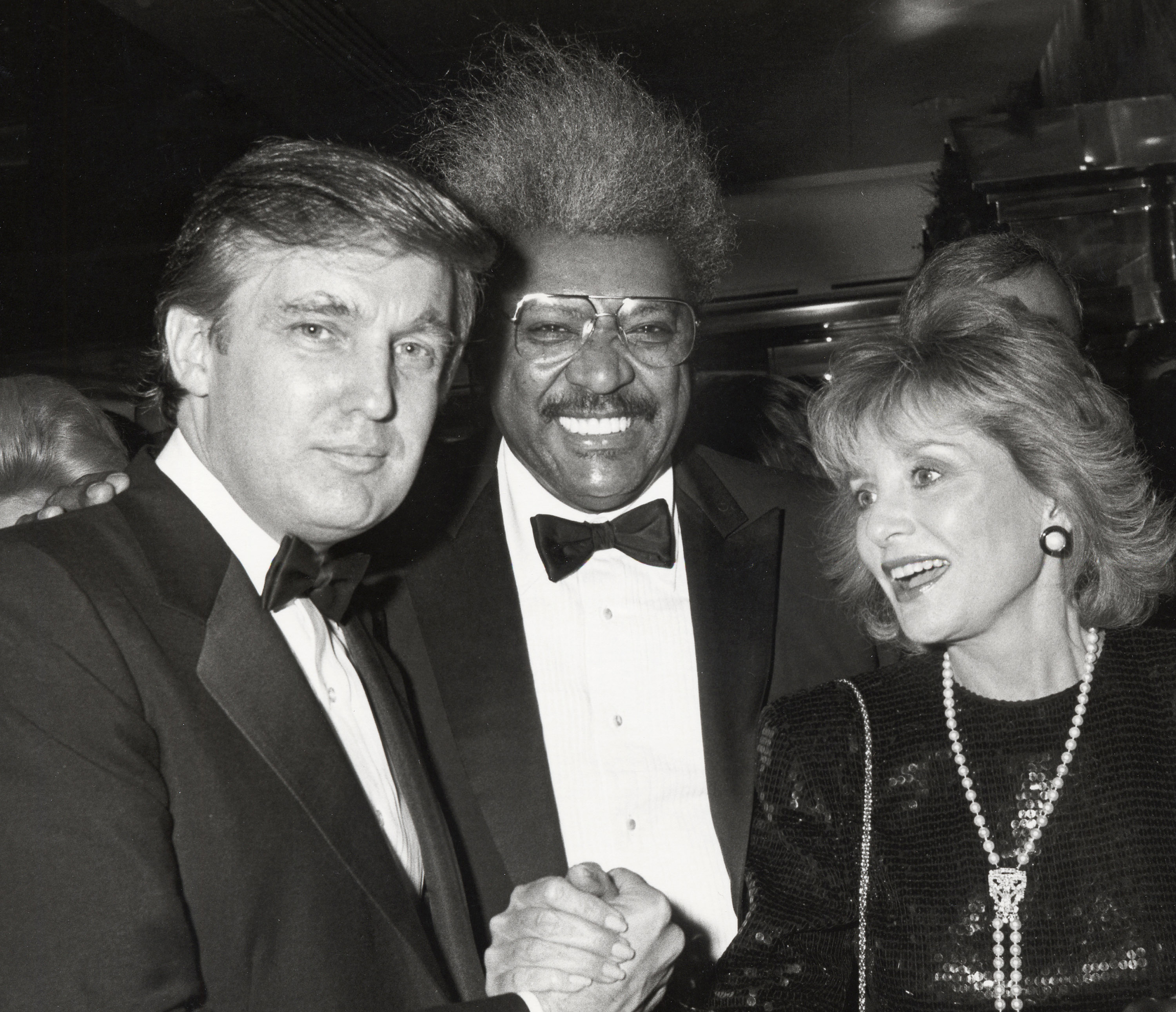 Donald Trump, Don King and Barbara Walters on Dec. 12, 1987.