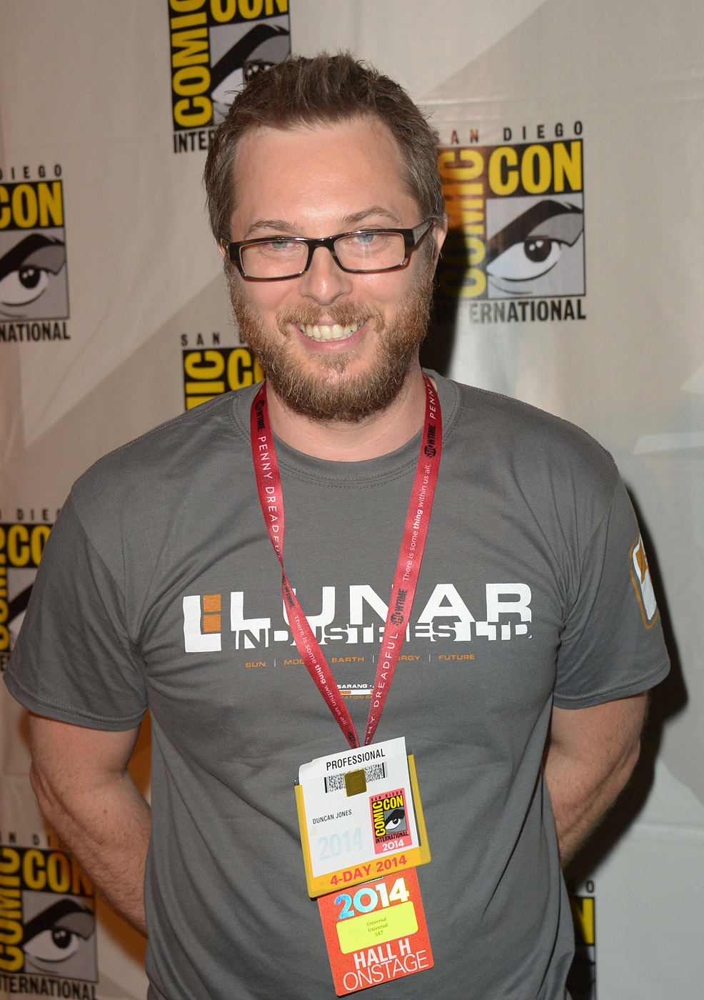 Director Duncan Jones attends the Legendary Pictures preview and panel during Comic-Con International 2014 at San Diego Convention Center on July 26, 2014 in San Diego, California.
