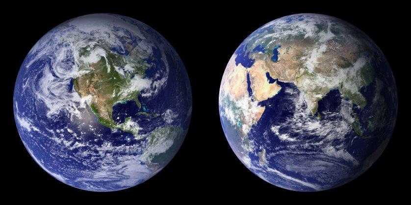 NASA Earth Blue Marble MODIS 2002