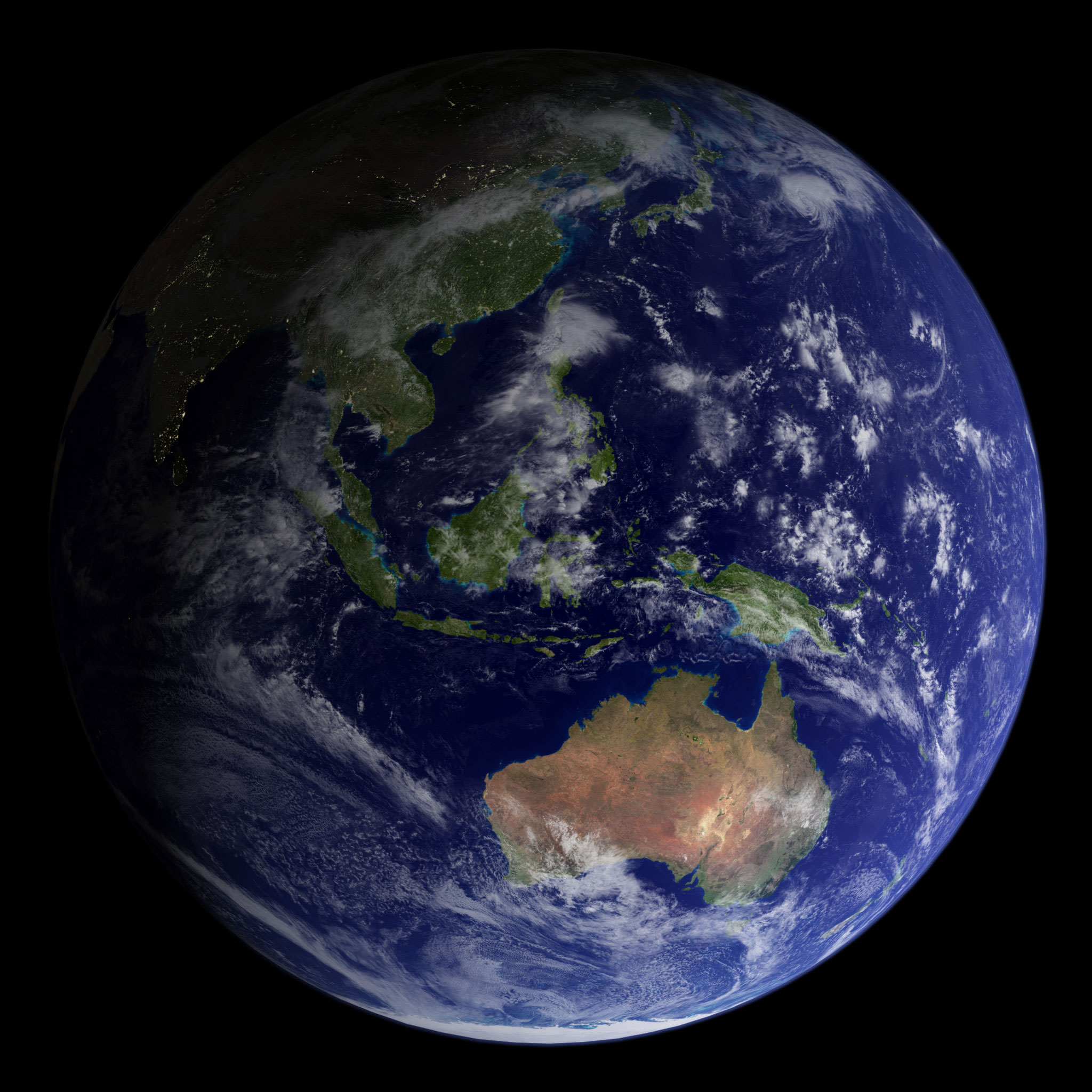 In 2002, NASA released the most detailed true-color image of the Earth's surface ever produced up to that point. Scientists and data visualizers created the image by stitching together data collected over 4 months from NASA's Terra satellite.