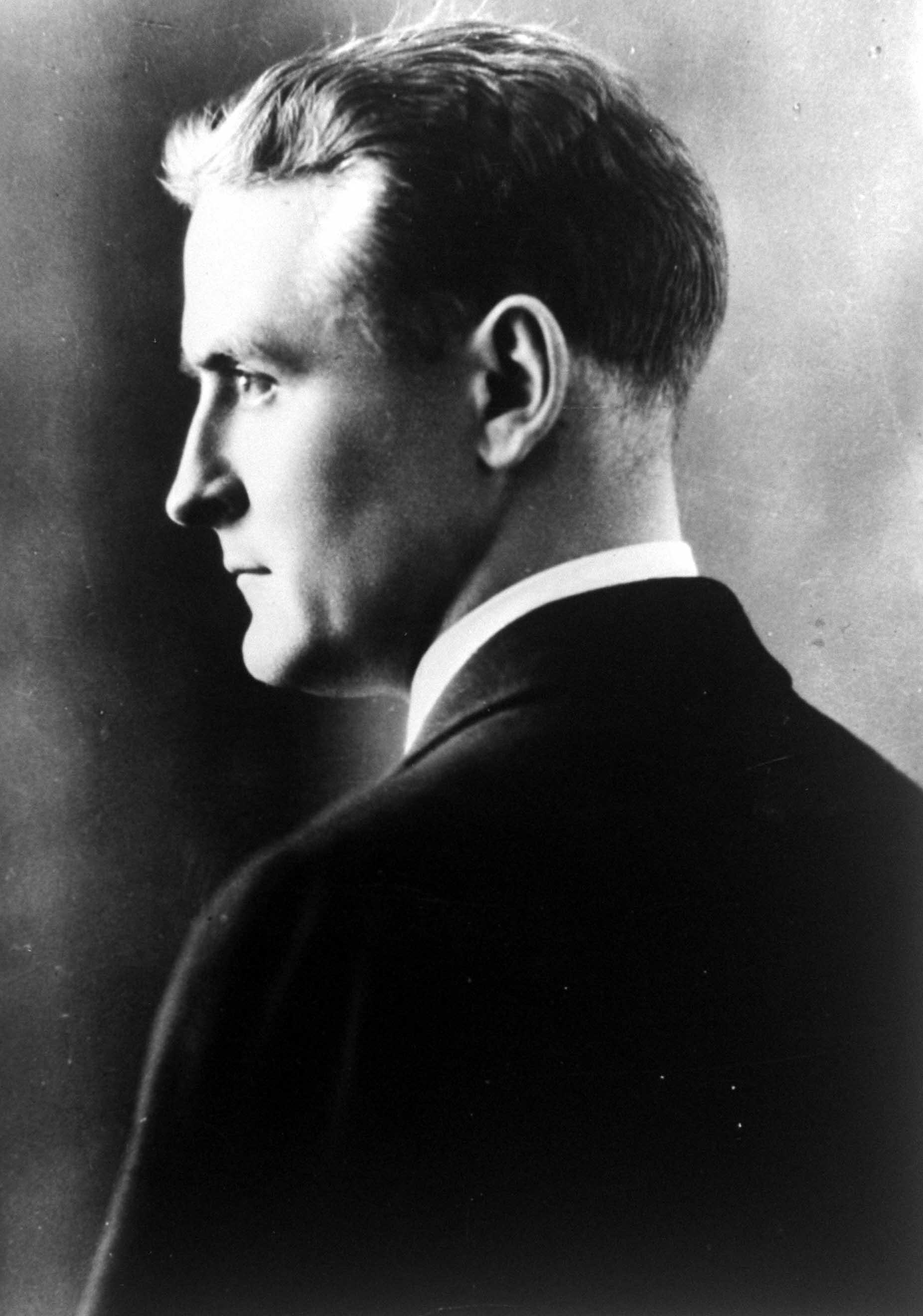 American novelist Francis Scott Key Fitzgerald (1896-1940).