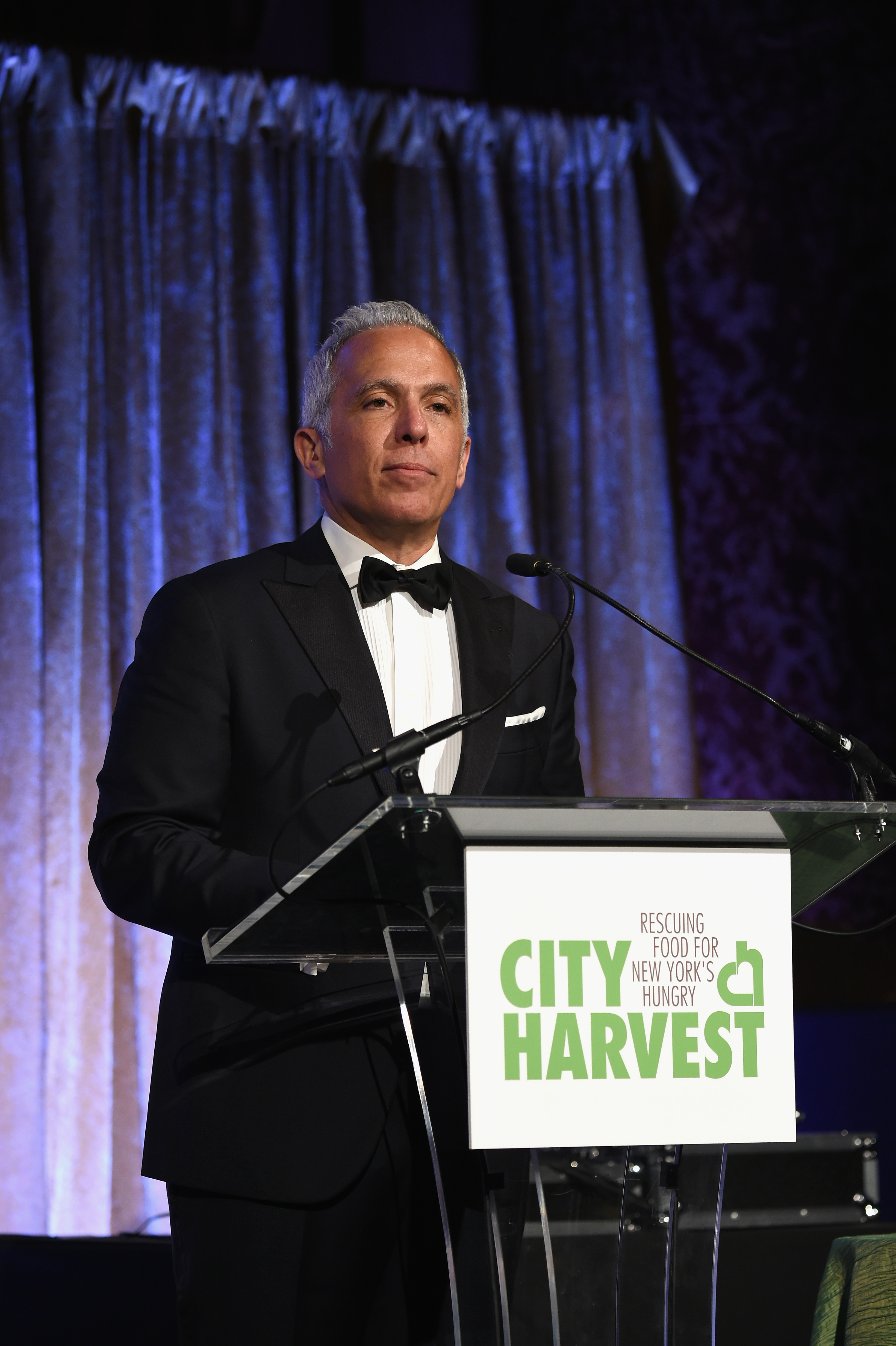 Geoffrey Zakarian speaks on stage during the City Harvest's 21st Annual Gala - An Evening Of Practical Magic at Cipriani 42nd Street on April 30, 2015 in New York City.