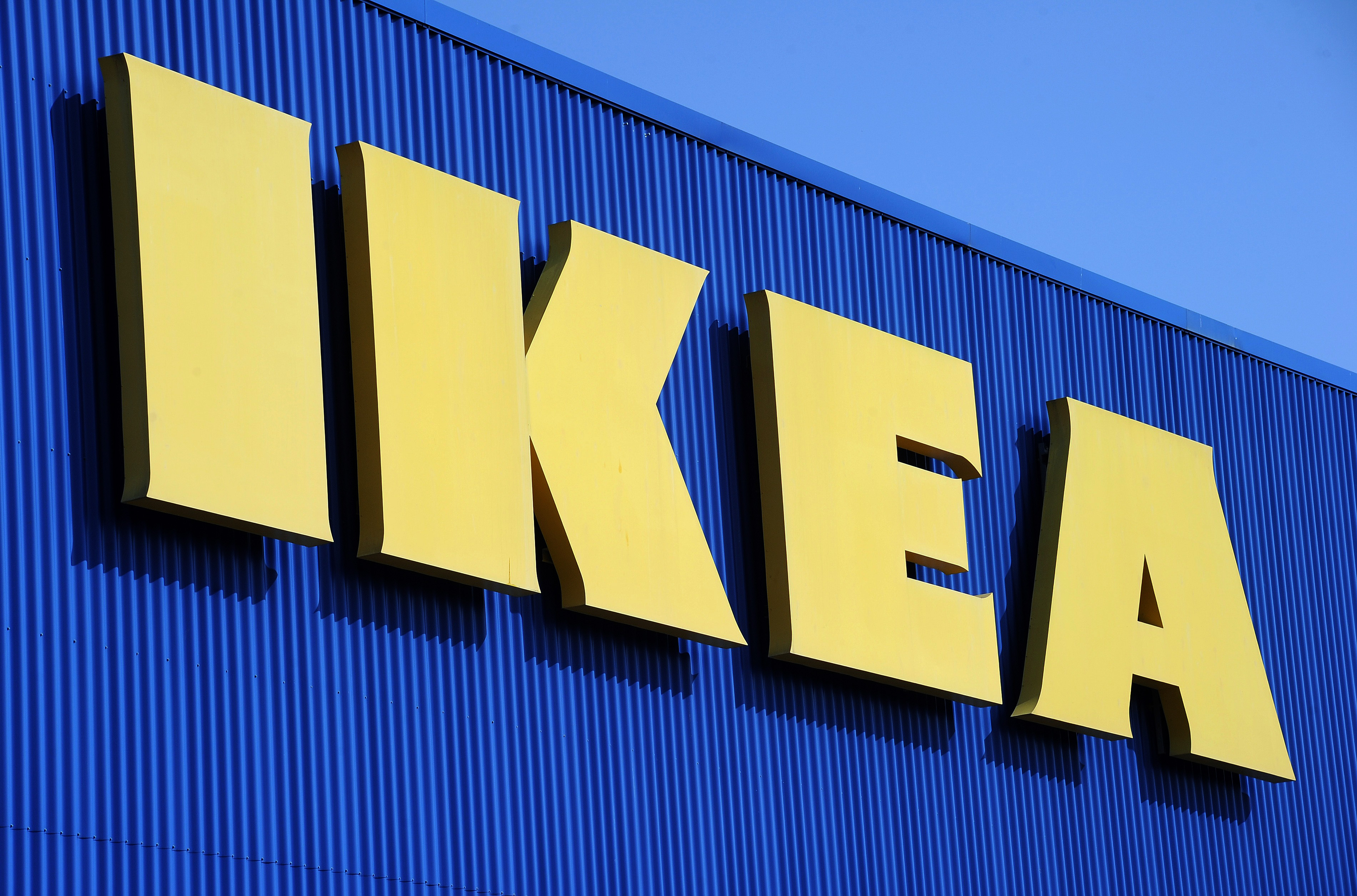 A picture taken on March 27, 2013 shows the sign of Swedish furniture giant Ikea at the Odysseum shopping mall, in Montpellier, southern France.